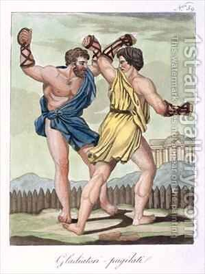 Gladiators from Antique Rome by (after) Grasset de Saint-Sauveur, Jacques - Reproduction Oil Painting