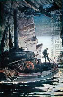Illustration from Les Travailleurs de la Mer by Victor Hugo by Achille Granchi-Taylor - Reproduction Oil Painting