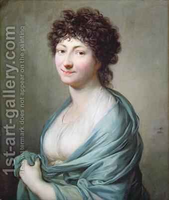 The Daughter Portrait of Caroline Susanne Graff by Anton Graff - Reproduction Oil Painting