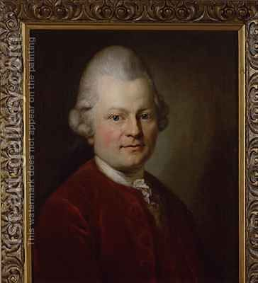 Gotthold Ephraim Lessing by (after) Graf, Anton - Reproduction Oil Painting