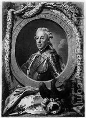 Portrait of Prince Henry of Prussia 1726-1802 by (after) Graf, Anton - Reproduction Oil Painting