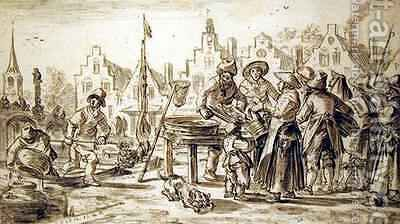 Fishmarket by Jan van Goyen - Reproduction Oil Painting
