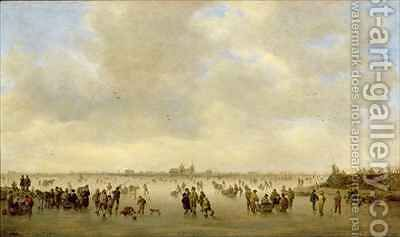 Winter Landscape with Skaters Before SHertogenbosch by Jan van Goyen - Reproduction Oil Painting