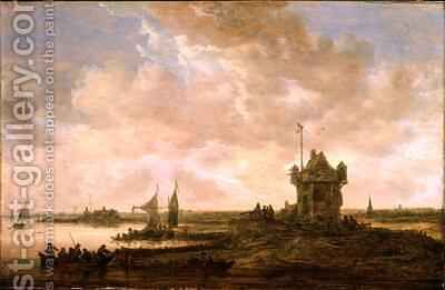 Dutch Landscape by Jan van Goyen - Reproduction Oil Painting