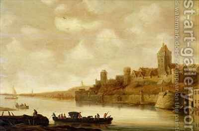 View of Nijmegen by Jan van Goyen - Reproduction Oil Painting