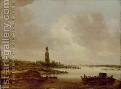 View from Rhenen from the West by Jan van Goyen - Reproduction Oil Painting