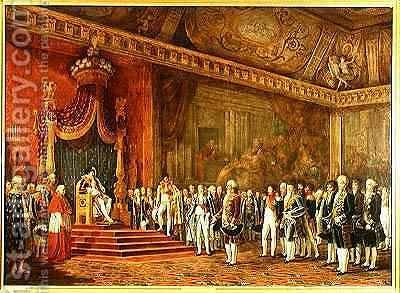 Napoleon 1769-1821 Receiving the Delegation from the Roman Senate by Innocent Louis Goubaud - Reproduction Oil Painting