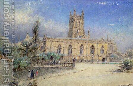 Worcester Cathedral by Albert Goodwin - Reproduction Oil Painting