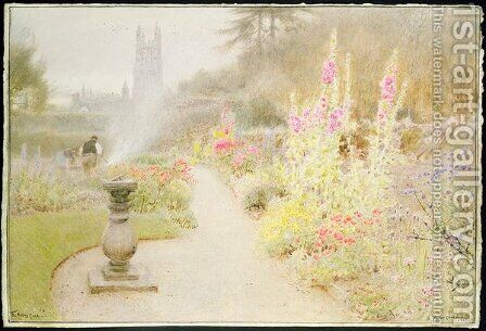 The Abbey Garden by Albert Goodwin - Reproduction Oil Painting