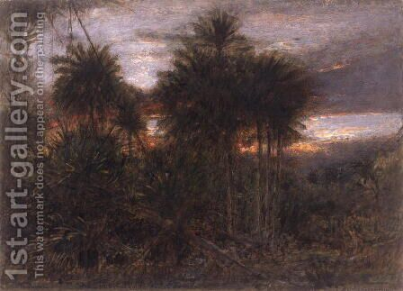 The Jungle Wherein all the beasts of the forest do move by Albert Goodwin - Reproduction Oil Painting