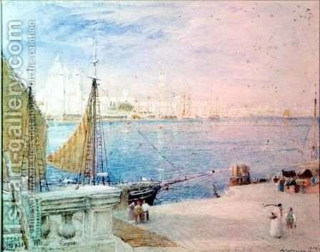 Venice by Albert Goodwin - Reproduction Oil Painting