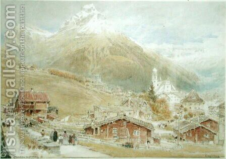 Engelberg Sunday morning by Albert Goodwin - Reproduction Oil Painting
