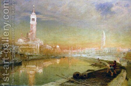 Venice Midsummer Dawn by Albert Goodwin - Reproduction Oil Painting