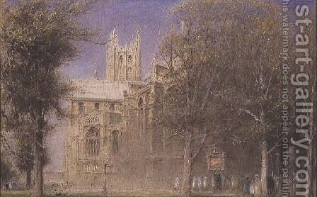 Canterbury Cathedral by Albert Goodwin - Reproduction Oil Painting