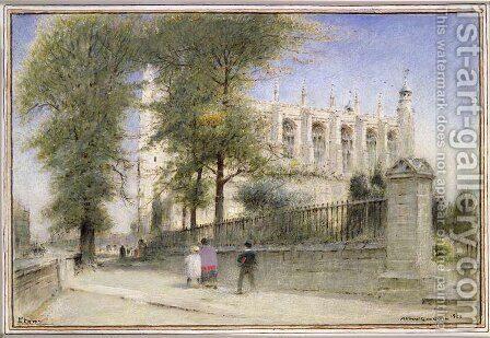 Eton College Windsor by Albert Goodwin - Reproduction Oil Painting