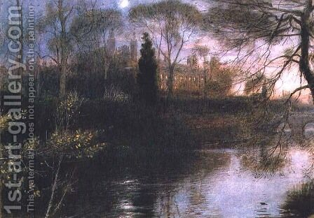 The Backs Cambridge by Albert Goodwin - Reproduction Oil Painting