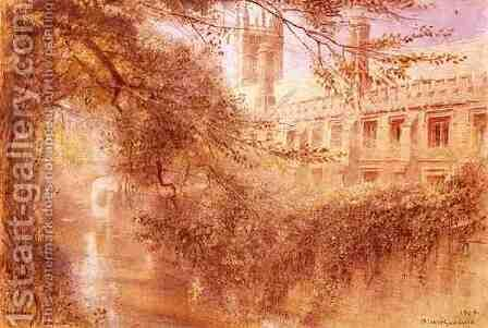 Magdalen College by Albert Goodwin - Reproduction Oil Painting