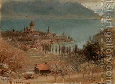 Spietz Lake Thun by Albert Goodwin - Reproduction Oil Painting