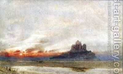 Mont St Michel Normandy by Albert Goodwin - Reproduction Oil Painting