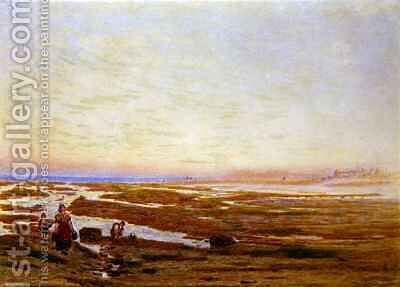Low Tide on the South Coast near Brighton by Albert Goodwin - Reproduction Oil Painting