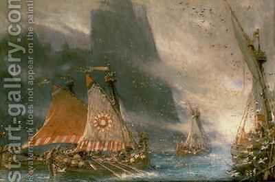 The Viking Sea Raiders by Albert Goodwin - Reproduction Oil Painting