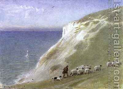 Beachy Head East Sussex by Albert Goodwin - Reproduction Oil Painting