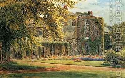 Down House from the Garden by Albert Goodwin - Reproduction Oil Painting