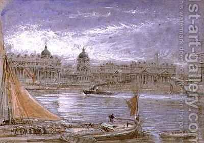 View of Greenwich from the Thames by Albert Goodwin - Reproduction Oil Painting