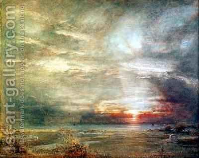 Venice from the Hebrew Cemetery by Albert Goodwin - Reproduction Oil Painting