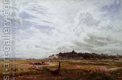 Rye Sussex by Albert Goodwin - Reproduction Oil Painting