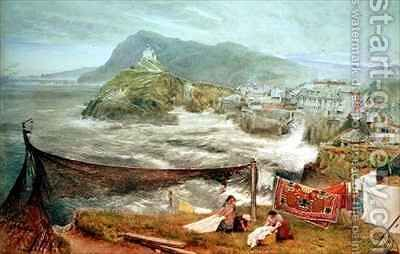 Ilfracombe Devon Looking Towards Hillsborough by Albert Goodwin - Reproduction Oil Painting