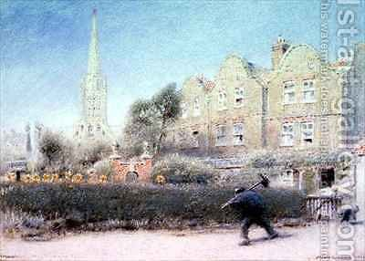 Norwich and the Chimney Sweep by Albert Goodwin - Reproduction Oil Painting