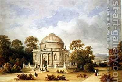 A Design for the Hamilton Mausoleum by Henry Edmund Goodridge - Reproduction Oil Painting
