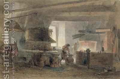 A Smithy at Seville by Edward Angelo Goodall - Reproduction Oil Painting