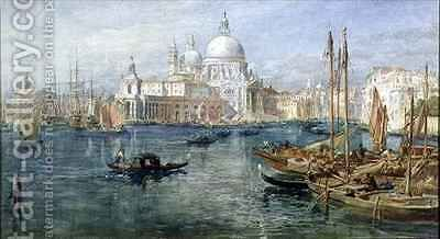 St Maria della Salute Venice by Edward Angelo Goodall - Reproduction Oil Painting