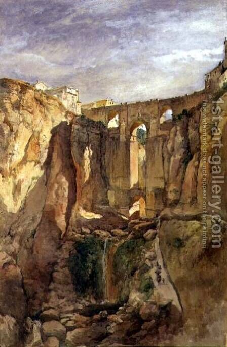 The Gorge Ronda Spain by Edward Angelo Goodall - Reproduction Oil Painting