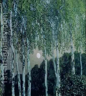 Birch Trees by Aleksandr Jakovlevic Golovin - Reproduction Oil Painting