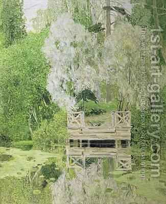 Silver White Willow by Aleksandr Jakovlevic Golovin - Reproduction Oil Painting