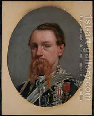 Major Frederick Robertson Aikman VC 4th Bengal Native Infantry by Capt. I.A. Goldingham - Reproduction Oil Painting