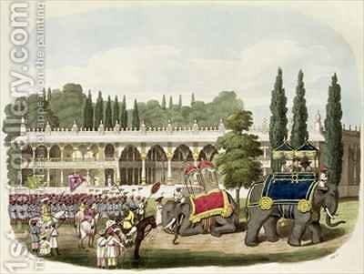 The Palace of Tippoo Sahib 1749-99 by (after) Gold, Charles Emilius - Reproduction Oil Painting