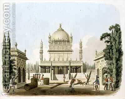 The Tomb of Hyder Ali and Tippoo Sultan by (after) Gold, Charles Emilius - Reproduction Oil Painting