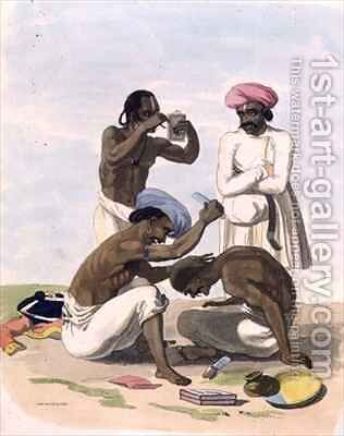 Barbers by (after) Gold, Charles Emilius - Reproduction Oil Painting