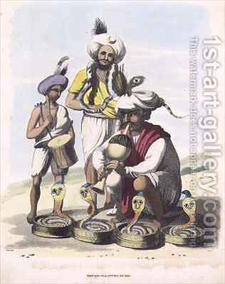 Snake Charmers near the Village of Manupar by (after) Gold, Charles Emilius - Reproduction Oil Painting