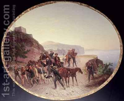The Capture of Guido Edmondo by Carl Wilhelm Goetzloff - Reproduction Oil Painting