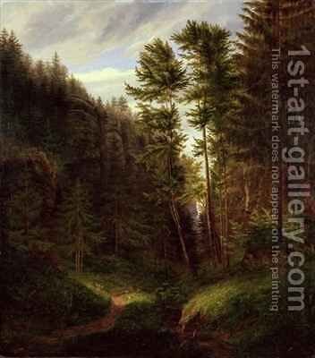Clearing in the Uttenwald Region by Carl Wilhelm Goetzloff - Reproduction Oil Painting