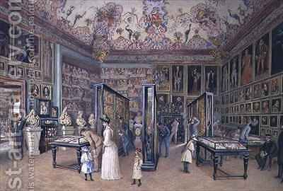The Genealogy Room of the Ambraser Gallery in the Lower Belvedere by Carl Goebel - Reproduction Oil Painting