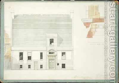 Front Elevation of House for JAM Whistler Esq Tite Street Chelsea by Edward William Godwin - Reproduction Oil Painting