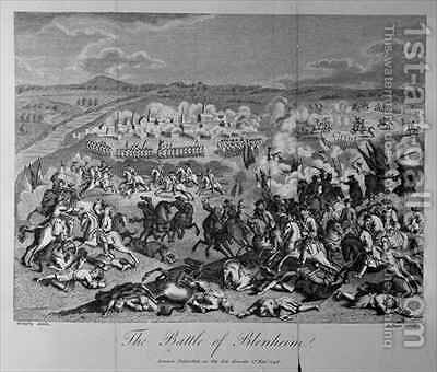 The Battle of Blenheim in 1704 by (after) Godefroy, Jean - Reproduction Oil Painting