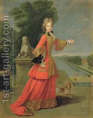 Marie Adelaide de Savoie 1685-1712 in Hunting Dress by (attr. to) Gobert, Pierre - Reproduction Oil Painting