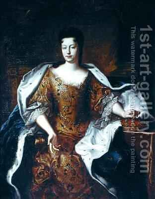 Elisabeth Charlotte dOrleans 1676-1744 Duchesse de Lorraine by (attr. to) Gobert, Pierre - Reproduction Oil Painting